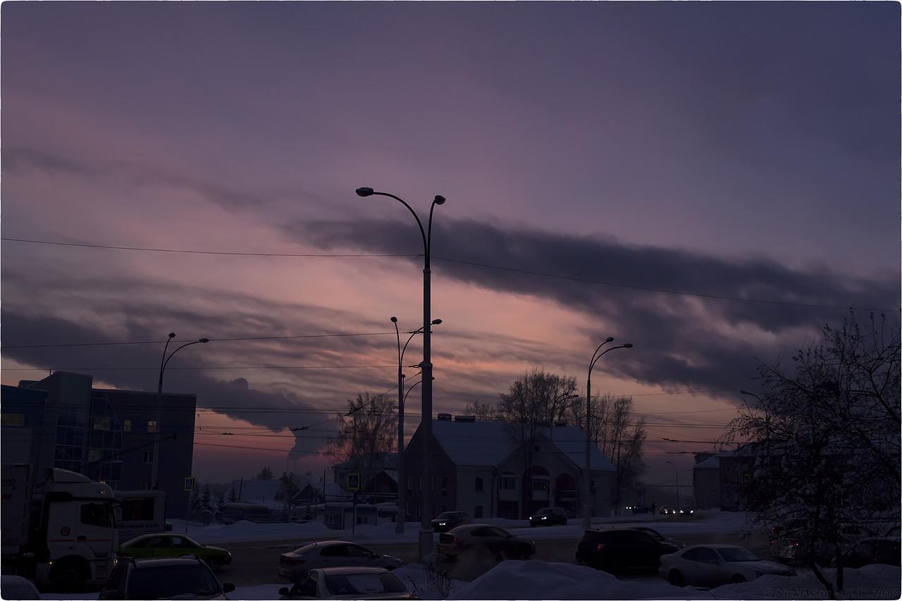 Перекрёсток пр.Шахтеров - ул.Терешковой [© NickFW - 15.12.2017]