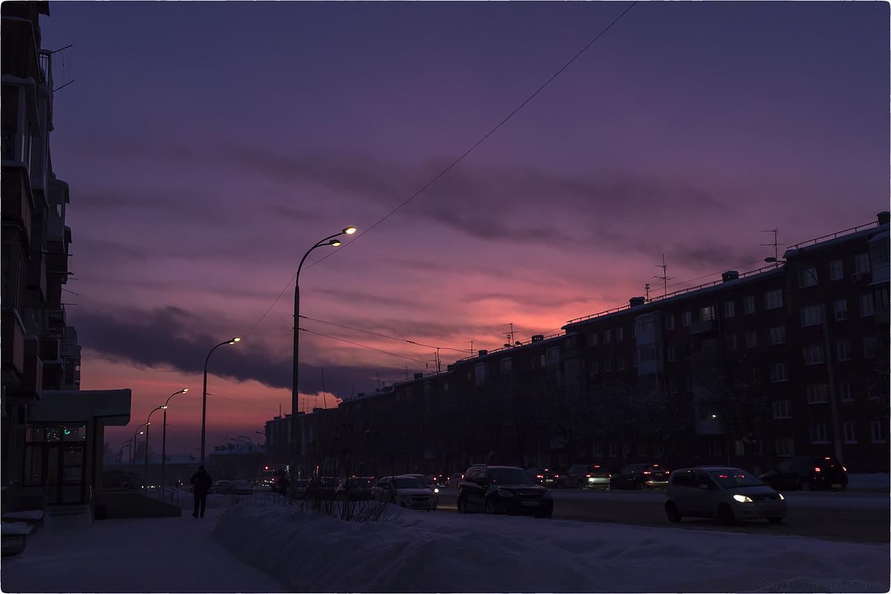 Закат на пр. Шахтеров [© NickFW - 15.12.2017]