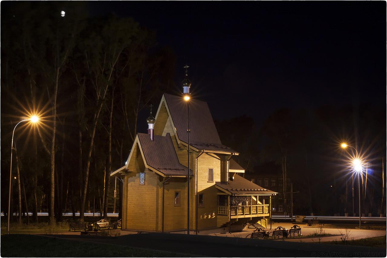 Храм Архангела Михаила вид от ДК Шахтеров [© NickFW - 04.06.2017]