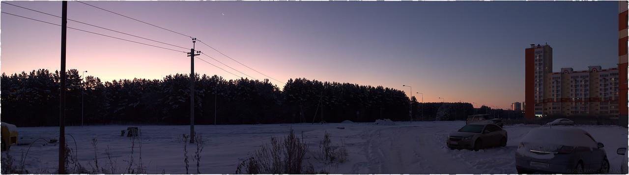 Панорама Серебряного бора на рассвете [© NickFW - 16.11.2017]