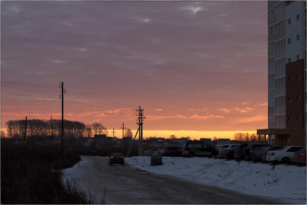 Рассвет над улицей Осиновская [© NickFW - 01.11.2017]