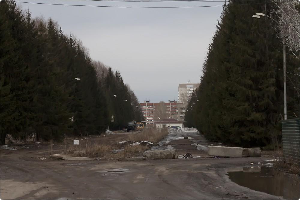 Аллея на территории бывшего КВВКУС [© NickFW.ru - 12.04.2018]