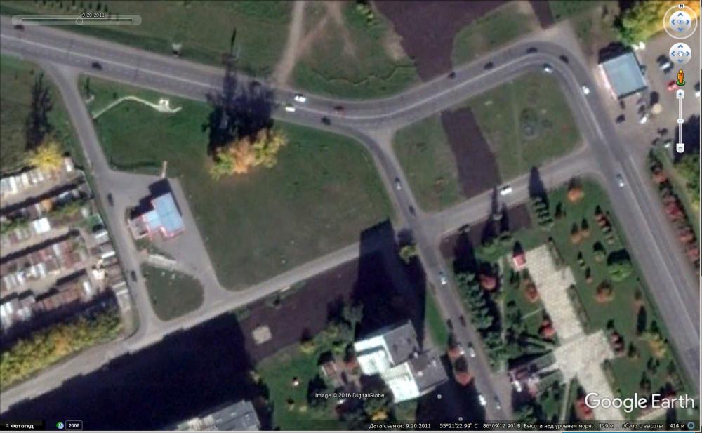 спутниковый снимок из Google Планета Земля от 20.09.2011