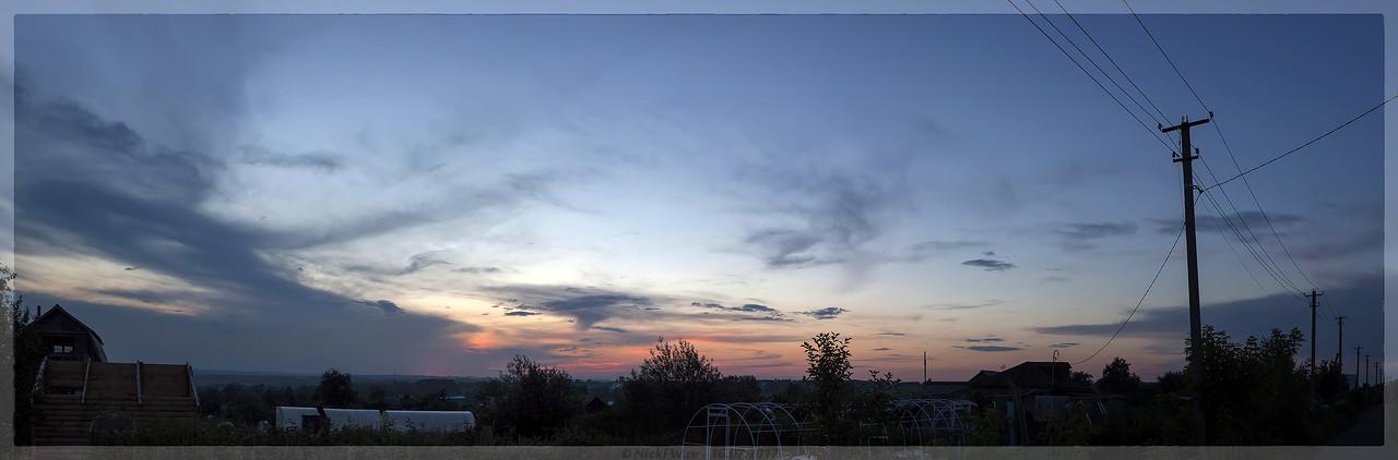 Панорама Заката над СНТ Мичуринец (© NickFW - 16.07.2017)