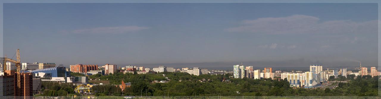 Панорама Кемерово с крыши дома Притомский 35/1 (© NickFW - 15.06.2017)