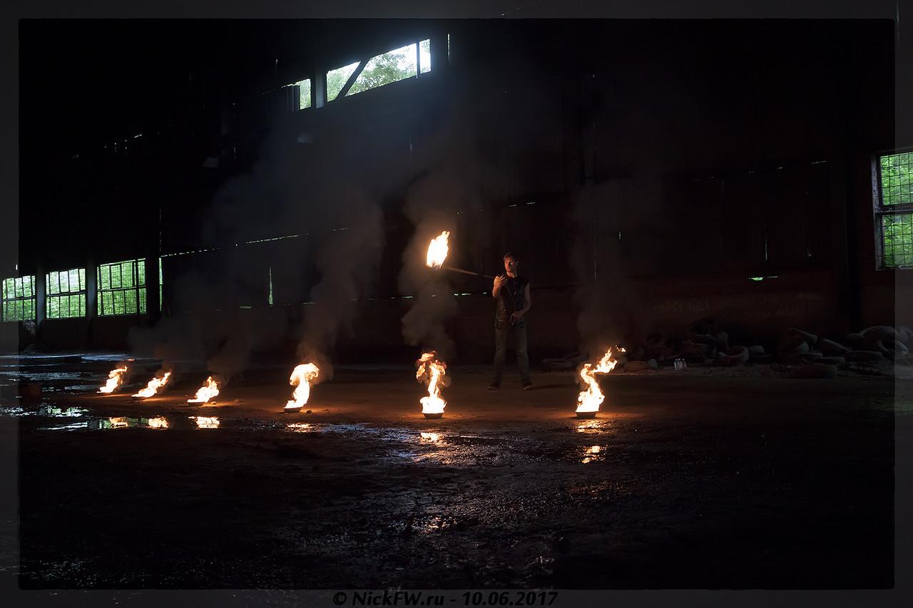 Фаер шоу | Шоу-группа SILENTIUM Кемерово (© NickFW - 10.06.2017)