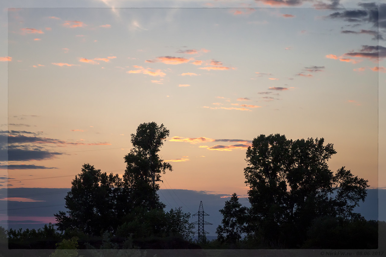 Закат над ЛЭП (© NickFW - 08.06.2017)
