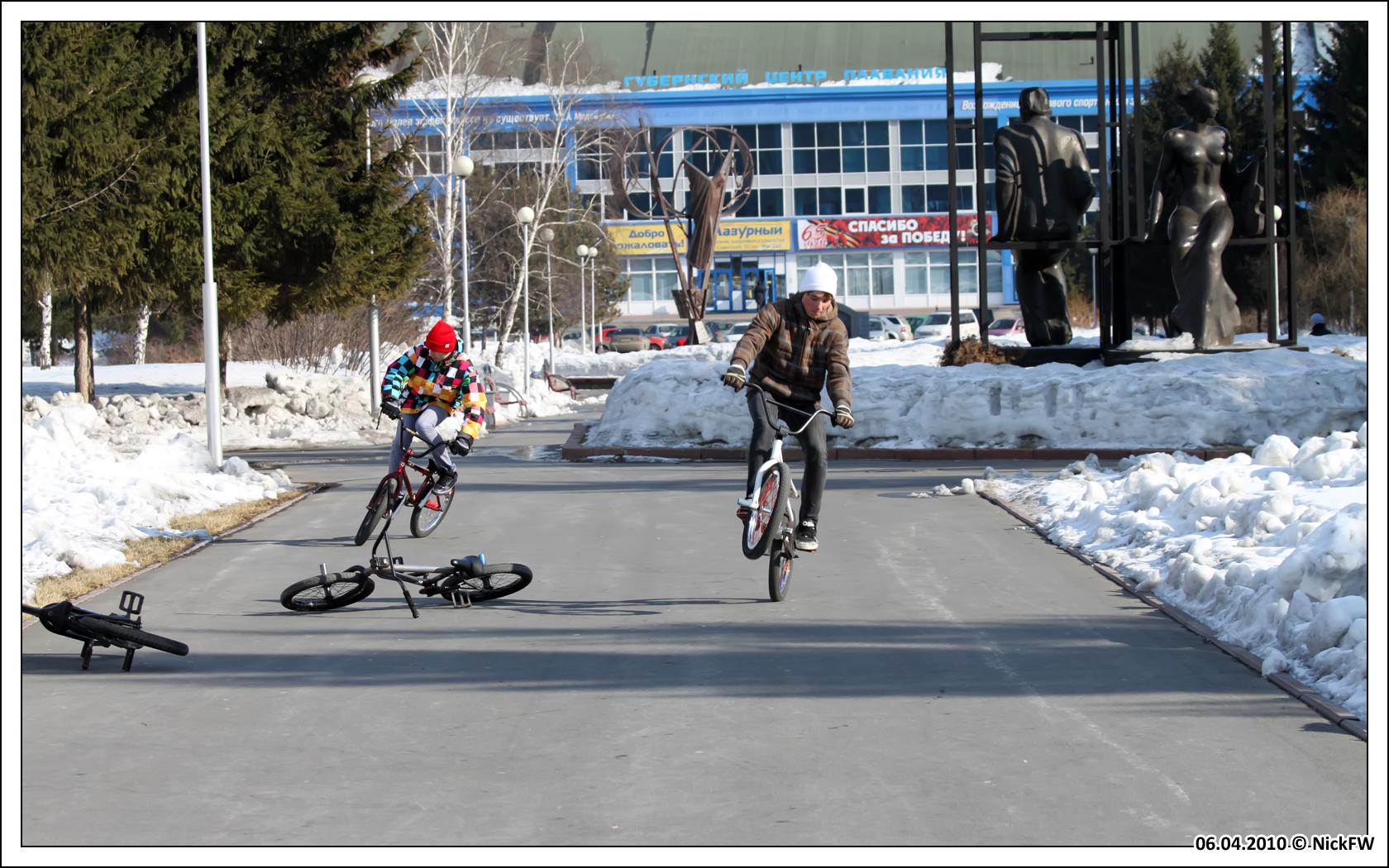 BMX'еры в Кемерово (© NickFW 06.04.2010)