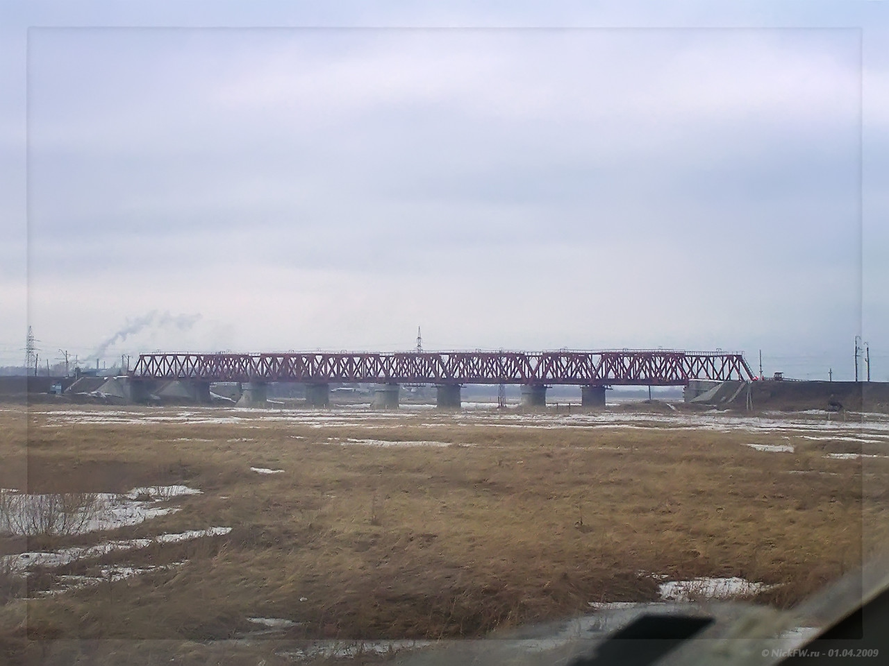 ЖД мост Транссиба через Кию (© NickFW - 01.04.2009)