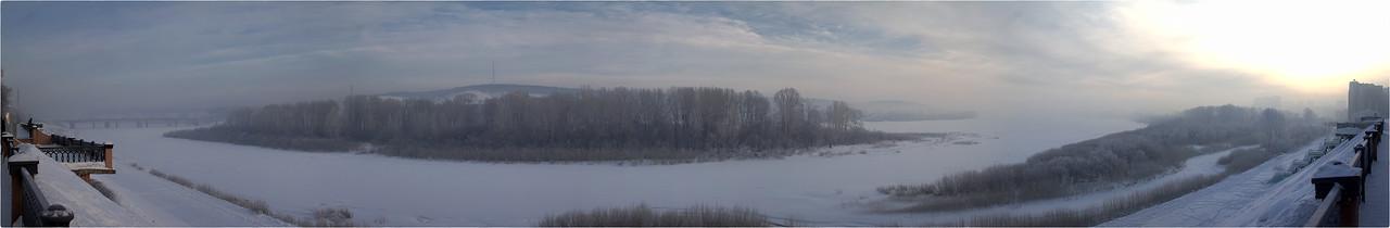 Панорама Томи с Притомской набережной [© NickFW.ru - 28.02.2018]