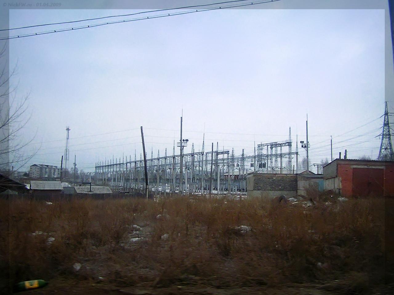 Электрическая подстанция ПС Опорная 110/10 кВ - Канск (© NickFW - 01.04.2009)