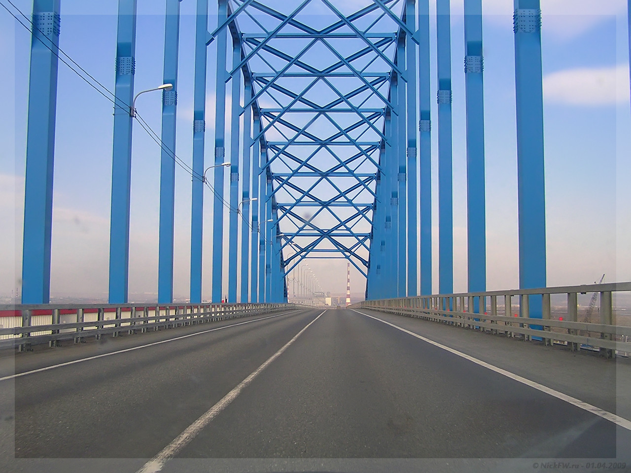 М53 - Мост через Енисей - северный объезд Красноярска (© NickFW - 01.04.2009)