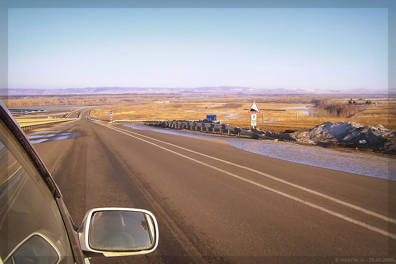 М53 Байкал - развязка близ Кубеково (© NickFW - 29.03.2009)