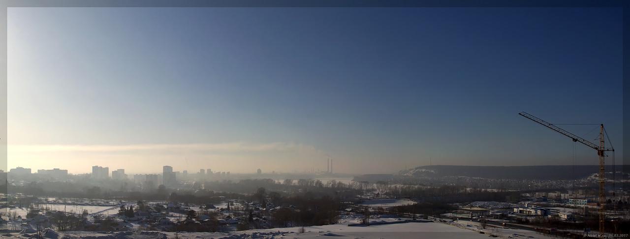 Вид на Кемерово с крыши - Волгоградская 1 (© NickFW - 06.03.2017)