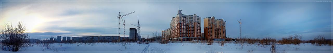 Панорама Притомского на перекрёстке с Волгоградской (© NickFW - 13.03.2017)