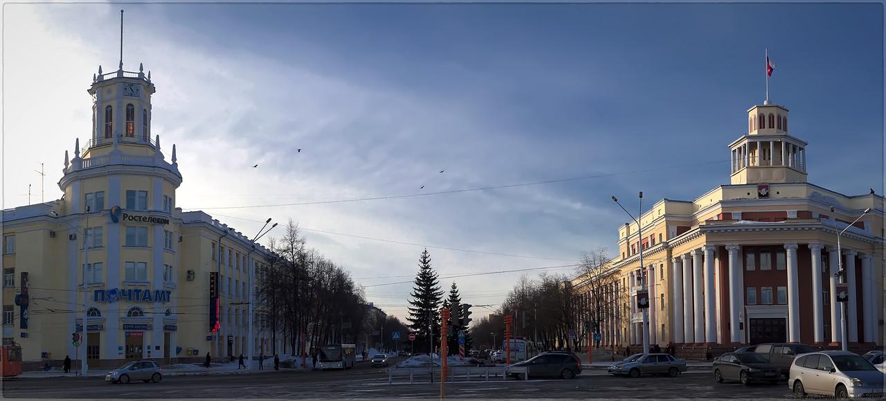 Кемерово - Вид на Советский с нулевого километра (© NickFW - 25.02.2017)