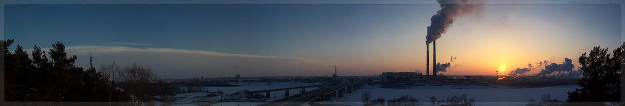 Панорама Закат над промзоной (© NickFW - 10.02.2017)