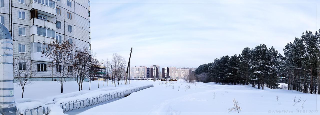 Панорама Институтской вид на Кузбасский проспект (© NickFW - 11.01.2017)