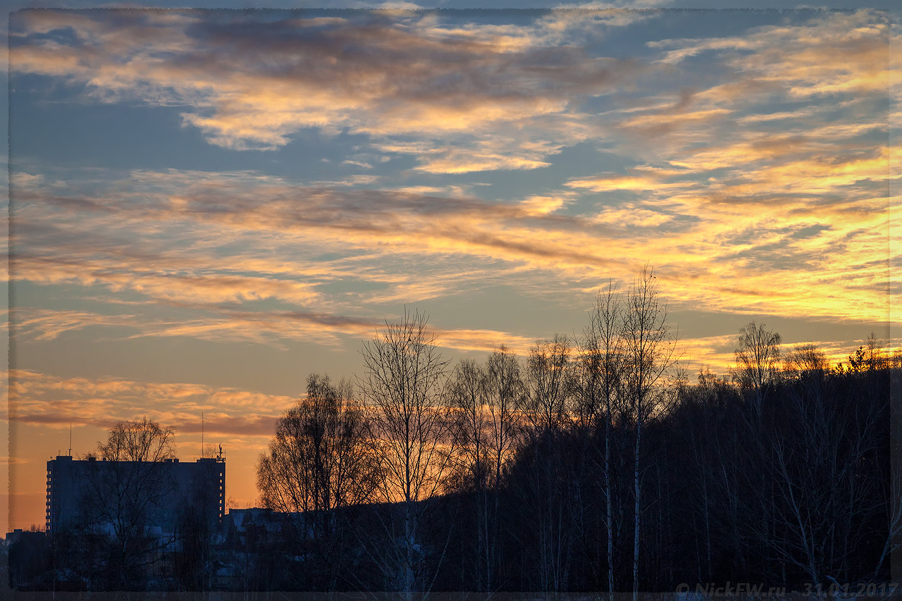 Закат над Кардиоцентром (© NickFW - 31.01.2017)