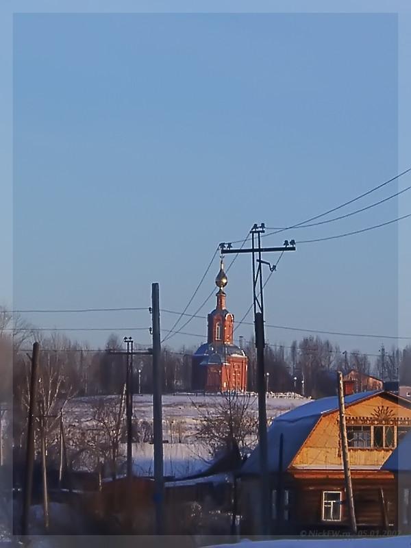 ТРОИЦКИЙ ХРАМ в память о погибших горняках г. Анжеро-Судженск (© NickFW - 05.01.2002)