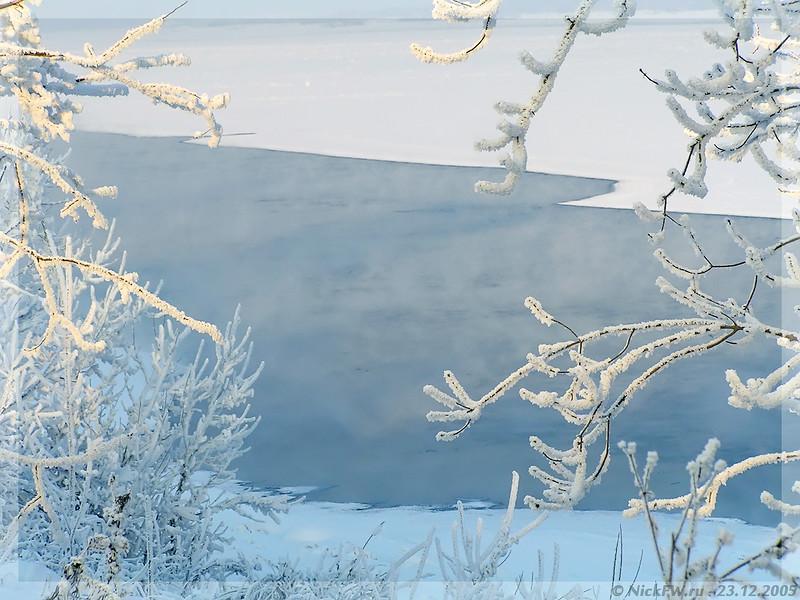 Полынья в Томи (© NickFW - 23.12.2005)