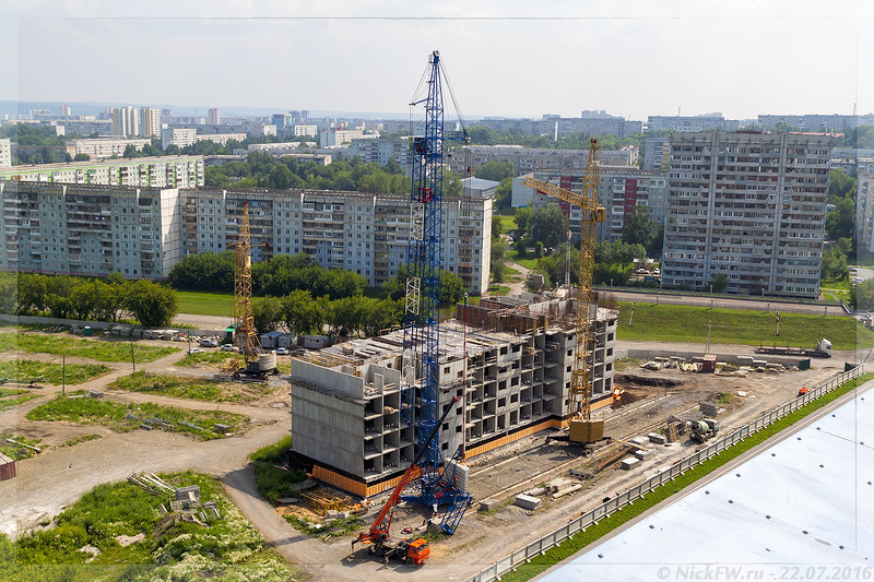 Строящийся дом в микрорайоне 16а (© NickFW - 22.07.2016)