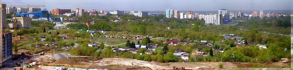 Панорама частного сектора микрорайона 15а (© NickfW 20.05.2016)