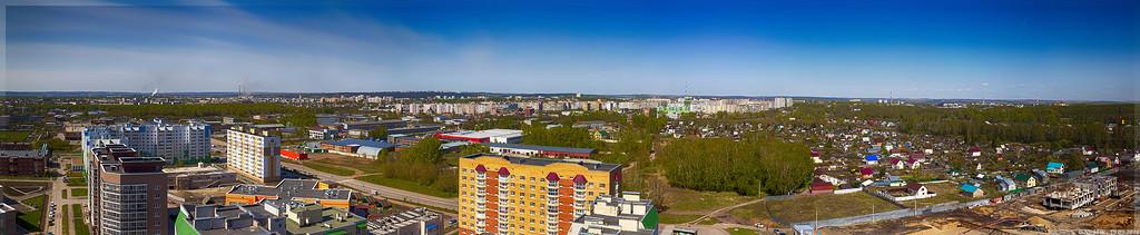 Панорама Кемерово с крыши Дружбы 31а (© NickFW - 19.05.2016)