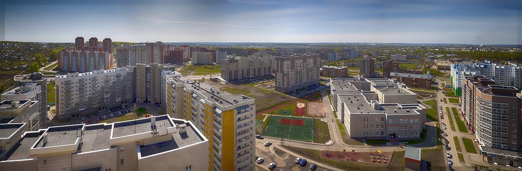 14 микрорайон вид с крыши Дружбы 31а (© NickFW - 19.05.2016)