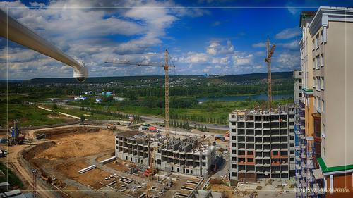 Панорама стройки микрорайона 15а жилой комплекс В (05.08.2015)