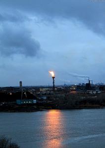2009-10-22 Кемерово вид на промзоновский вечный огонь