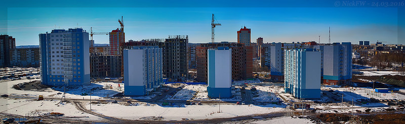 Микрорайон 68 Панорама с крыши дома №18 (© NickFW - 24.03.2016)