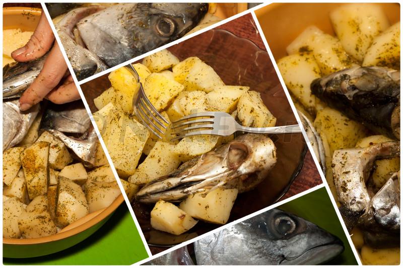 1. Головы скумбрии и картофель на пару [© NickFW.ru - 09.05.2018]