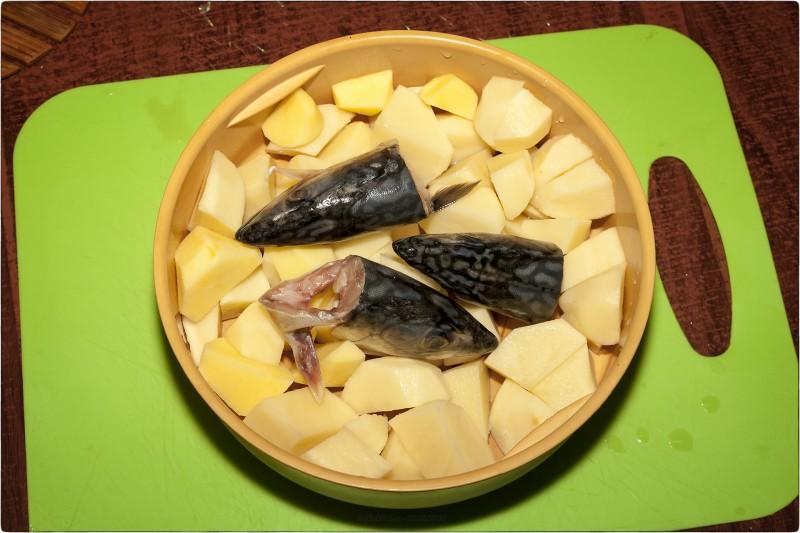 6. Головы скумбрии и картофель [© NickFW.ru - 09.05.2018]