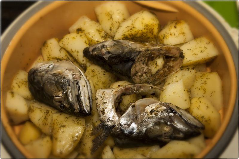 12. Головы скумбрии и картофель на пару [© NickFW.ru - 09.05.2018]