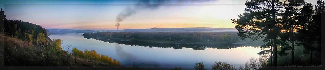 Панорама Томи с Верхотомского яра [© NickFW - 20.09.2009]