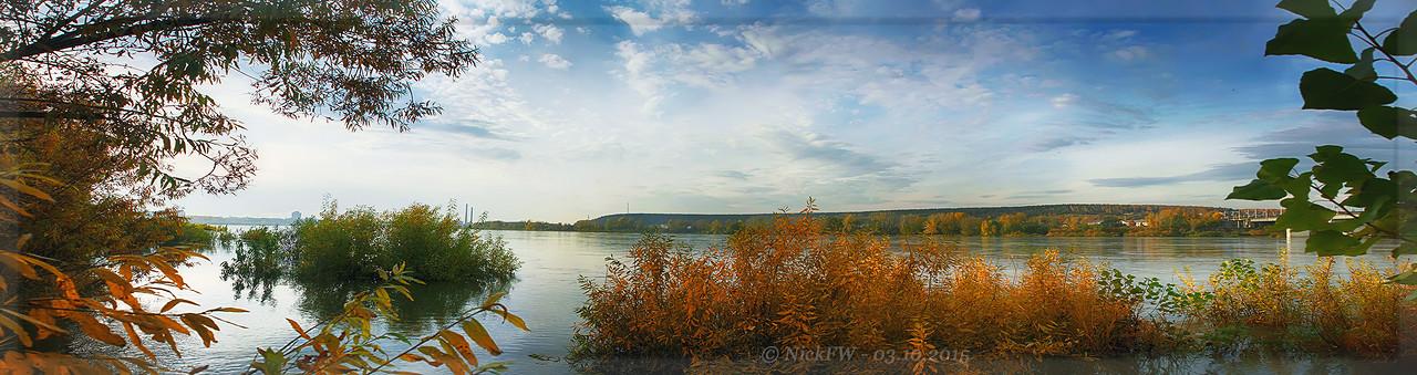 Панорама реки Томь [© NickFW - 03.10.2015]