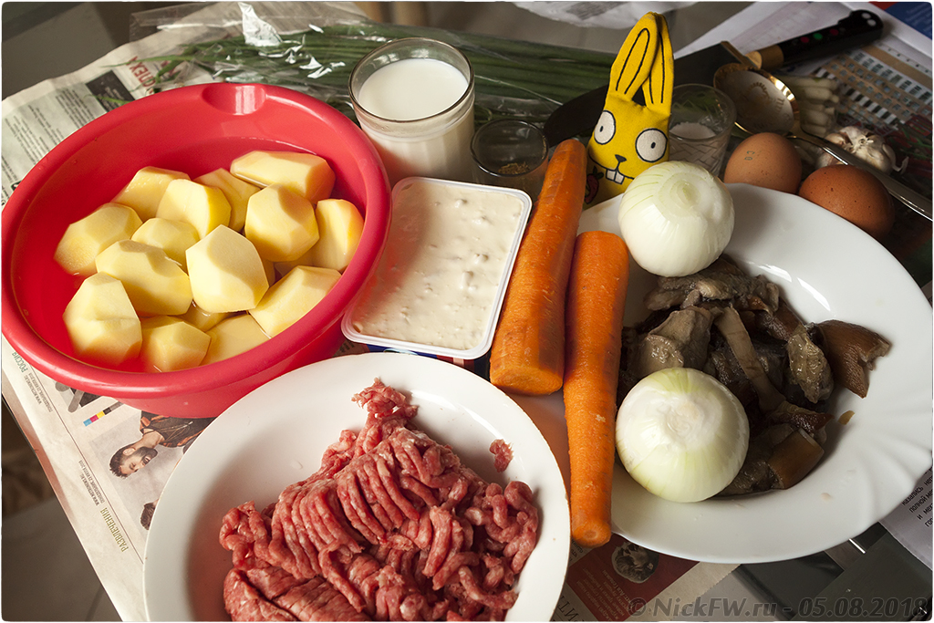 2. Сырный суп с фаршем грибами яйцом и молоком - © NickFW.ru