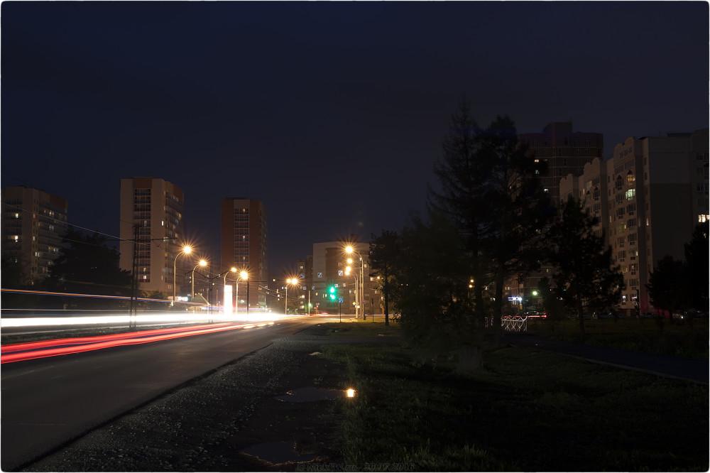 5. Ночное фото на пр. Шахтёров - © NickFW.ru - 30.07.2016г.