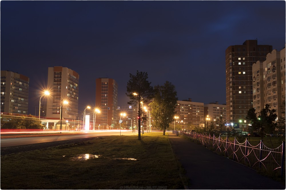 4. Ночное фото на пр. Шахтёров - © NickFW.ru - 30.07.2016г.