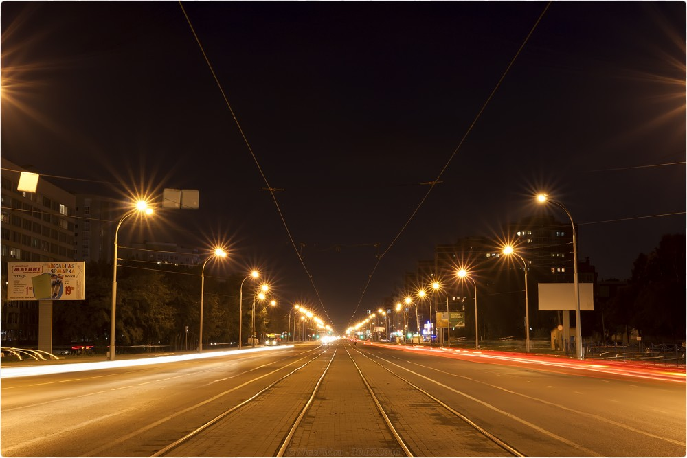 3. Ночное фото на пр. Шахтёров - © NickFW.ru - 30.07.2016г.