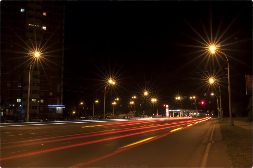 1. Ночное фото на пр. Шахтёров - © NickFW.ru - 30.07.2016г.