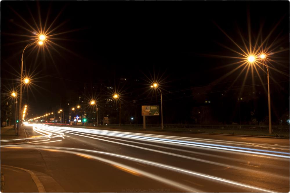 2. Ночное фото на пр. Шахтёров - © NickFW.ru - 30.07.2016г.