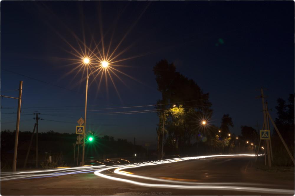 1. Ночные - Перекрёсток на М53 - © NickFW.ru - 27.05.2017 [ISO=100 / F=22 / 24 сек]