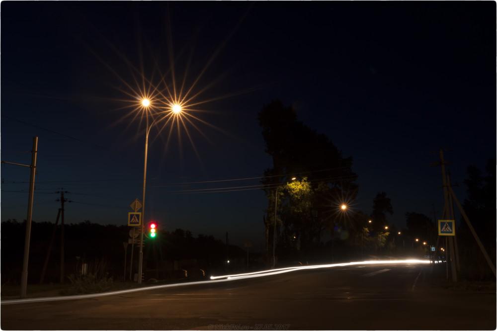 2. Ночные - Перекрёсток на М53 - © NickFW.ru - 27.05.2017 [ISO=100 / F=22 / 12 сек]