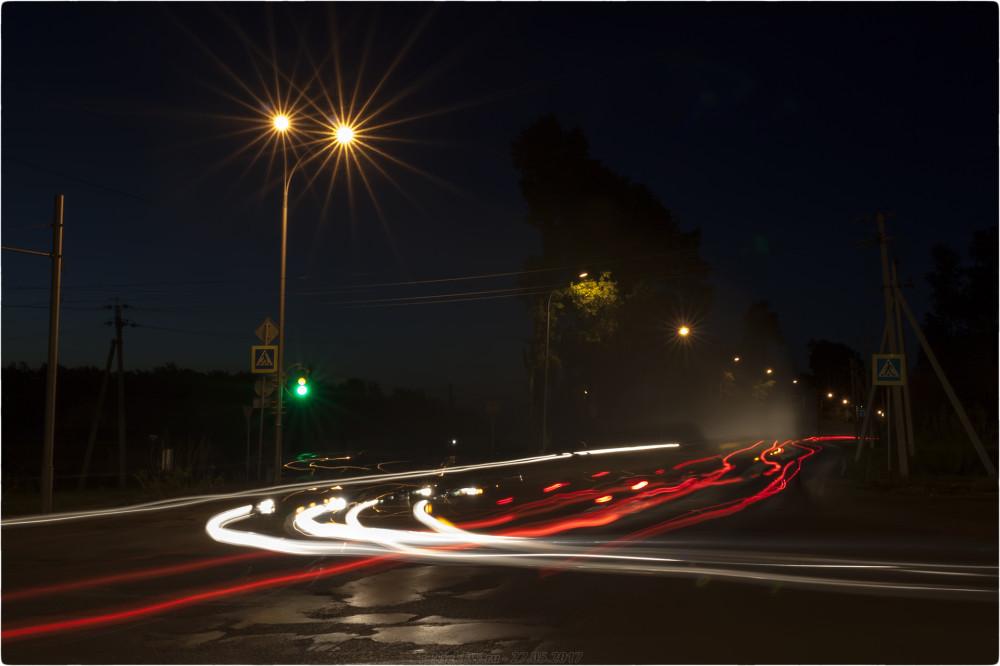 3. Ночные - Перекрёсток на М53 - © NickFW.ru - 27.05.2017 [ISO=100 / F=22 / 22 сек]