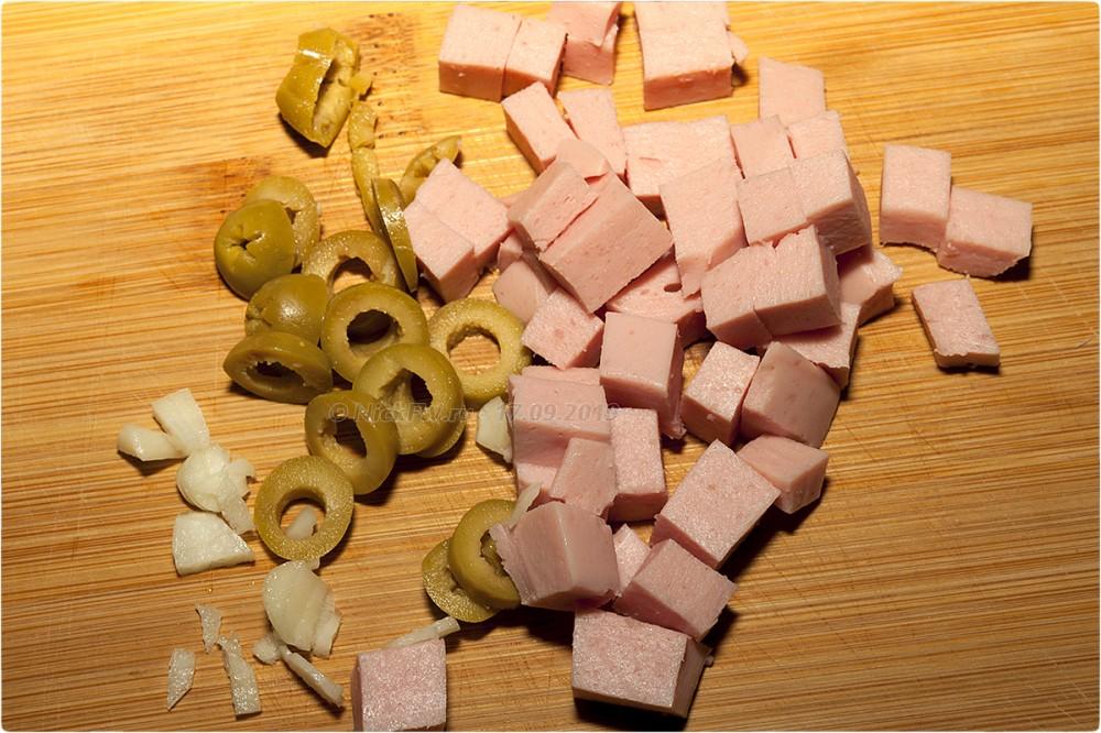 4. Омлет с макарошками колбаской и оливками © NickFW.ru - 17.09.2019г.
