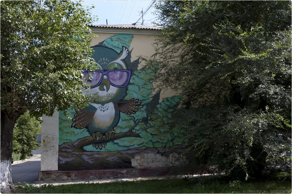3. Уличное искусство в Кемерово на проспекте Ленина... © NickFW.ru - 29.07.2019г.