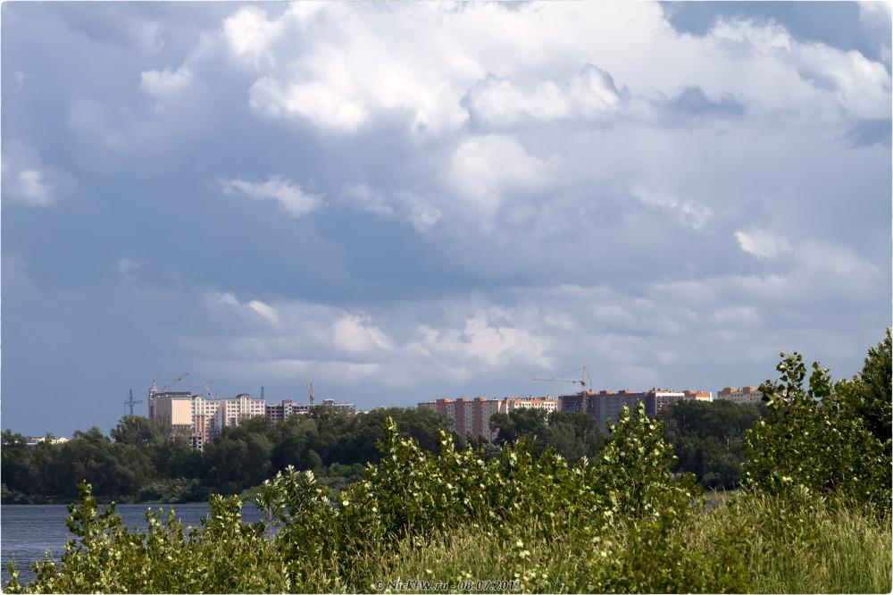 """2. ЖК """"Притомский"""" вид с острова Кемеровский © NickFW.ru - 08.07.2017г."""