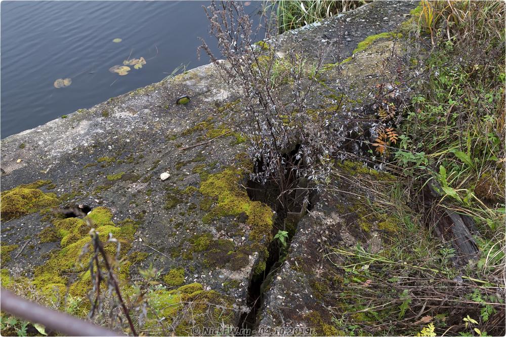 8. Разрушающаяся дамба на реке Белая © NickFW.ru - 04.10.2019г.